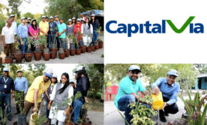 CapitalVia commemorate World Environment Day by planting saplings in an NGO in Indore