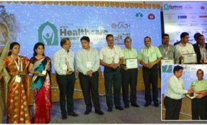 Bhagwan Mahaveer Cancer Hospital and Research Centre awarded - Best Healthcare Trust Provider - Elets 2nd Annual Healthcare Summit 2016