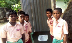 The 8th Class Students Collected Money, And Build a Toilet For Their Friends.