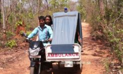 Man runs a Bike ambulance in jungle, saved lives of over 200 pregnant women in tribal Villages.