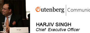 GUTENBERG COMMUNICATIONS FOUNDER & CEO HARJIV SINGH TO SPEAK AT INDIA'S FIRST IMPACT INVESTING CONCLAVE