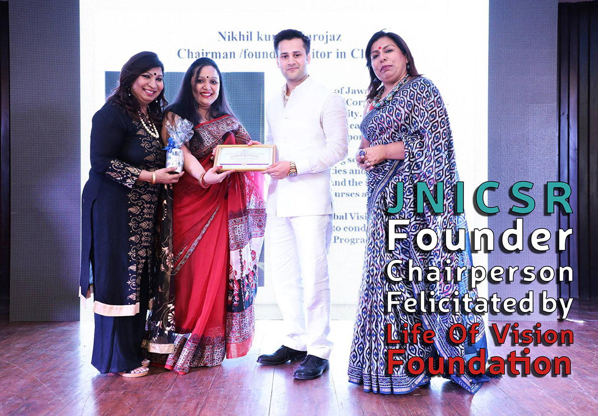 JNICSR Founder Chairperson Felicitated by Life Of Vision Foundation