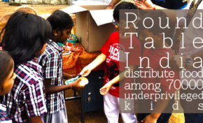 Round Table India distribute food among 70000 underprivileged kids