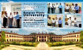 Asia's Biggest University Embracing CSR : Banaras Hindu University Officially invited JNICSR Founder Mr Nikhil Kumar Sarojaz as a speaker on the topic of CSR