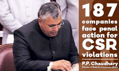 187 companies face penal action for CSR violations: by Honourable Minister  P.P Chaudhary