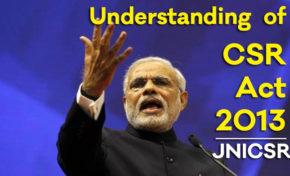 Understanding of CSR Act 2013